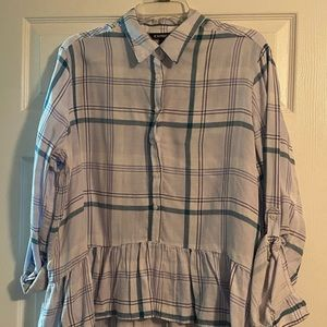 WITH TAG - Size Large - Express Plaid Blouse